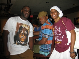 Cousins strengthening Family ties. Cousin Rashad, my Brother Jon & me ;) All from James Gabriel Coleman line.