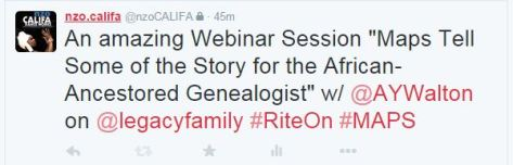 Legacy Family Webinar features founding member of Afrigeneas.com Ms Angela Walton-Raji: Maps Tell Some of the Story for the African-Ancestored Genealogist