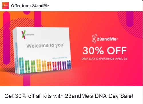 23andMe-30%off